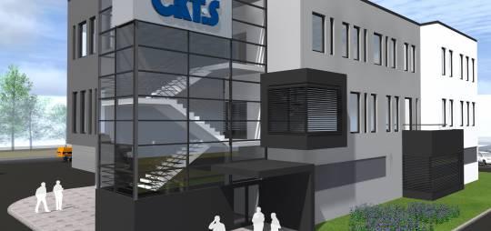 Projekt wielobranżowy budowy budynku biurowo – socjalnego z halą produkcyjną firmy CKT i S w Płockim Parku Przemysłowo – Technologicznym w Płocku