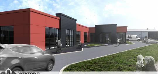 Projekt budynku handlowo-usługowo – magazynowego firmy KAMELIA