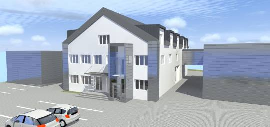 Projekt budowlano – wykonawczy dwóch hal magazynowych wraz z łącznikiem zlokalizowanych w Płocku ul. Chopina 5.