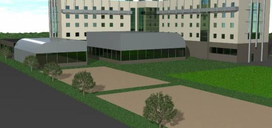 Koncepcja architektoniczna trzygwiazdkowego hotelu Centrum Szkolenia Sił NATO w Bydgoszczy