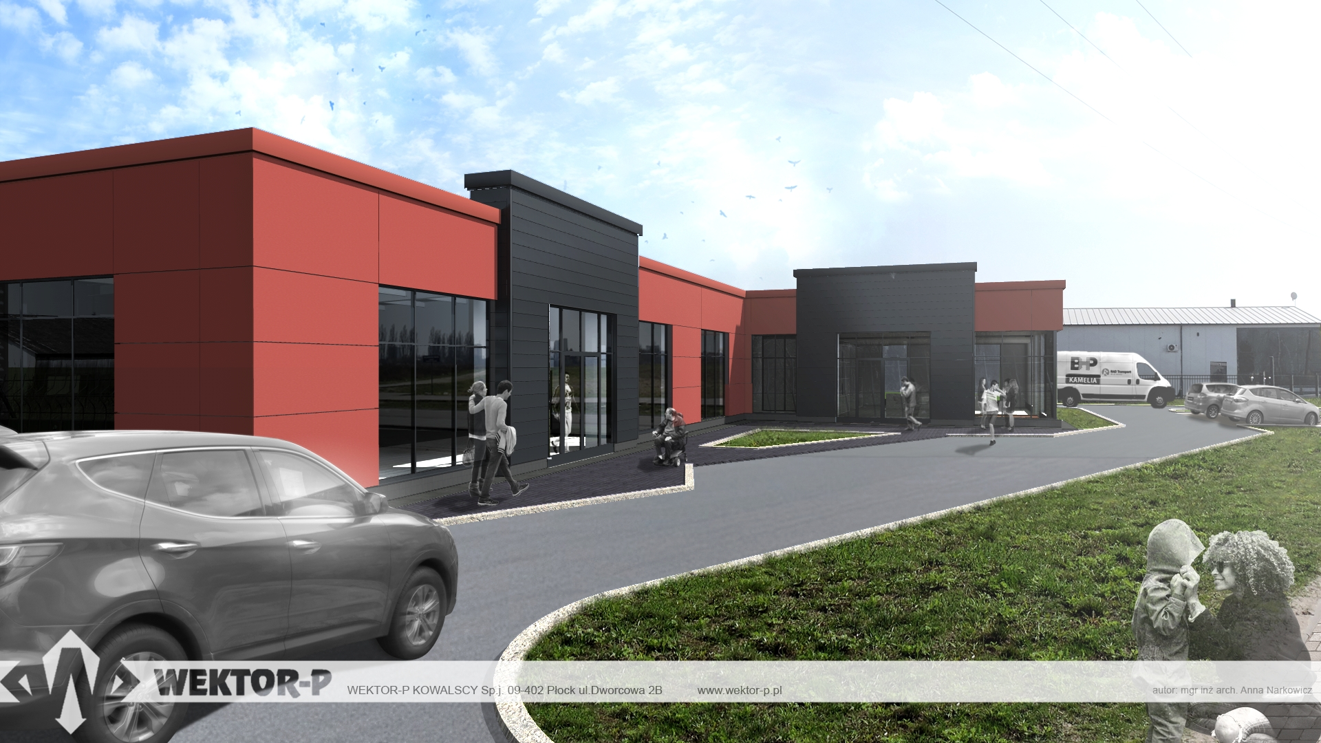 DESIGN OF COMMERCIAL AND SERVICE BUILDING FOR KAMELIA COMPANY