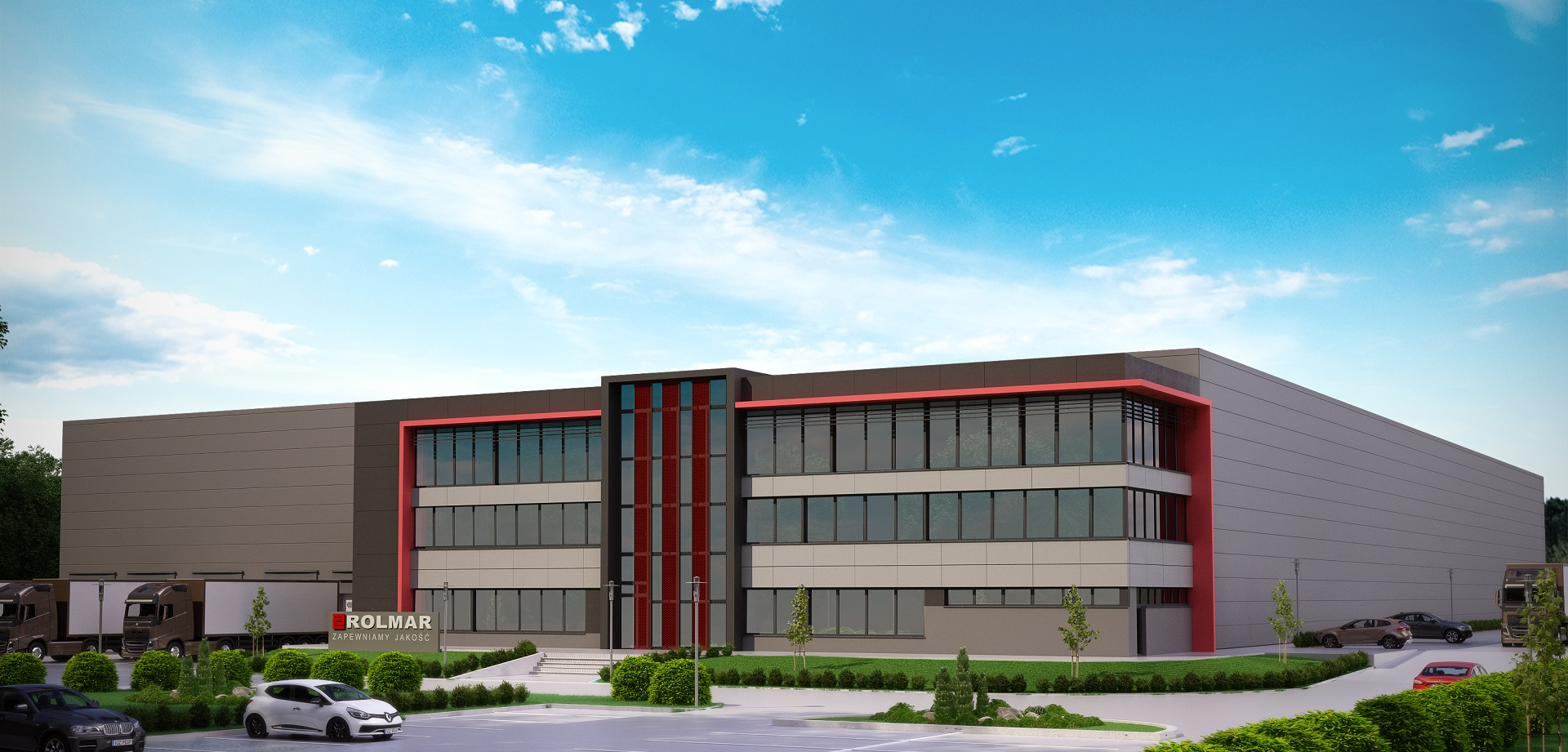 DESIGN OF WAREHOUSE HALL WITH AN OFFICE AND SOCIAL BACKUP FOR ROLMAR