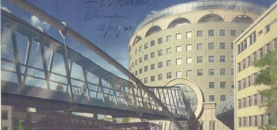 Projekt wykonawczy konstrukcji stalowej kładek dla pieszych pomiędzy budynkami biurowymi TVP przy ulicy Woronicza/ Samochodowa  w Warszawie