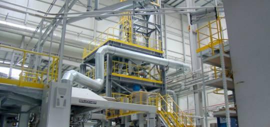 Projekt budowlano – wykonawczy konstrukcji stalowej etażerek pod linię technologiczną o łącznej masie około 70 T dla zakładu FLEXPOL sp. z o.o.