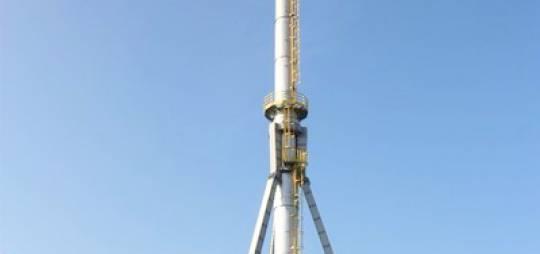 Projekt konstrukcyjny remontu komina stalowego o wysokości 75m dla PEC Kutno