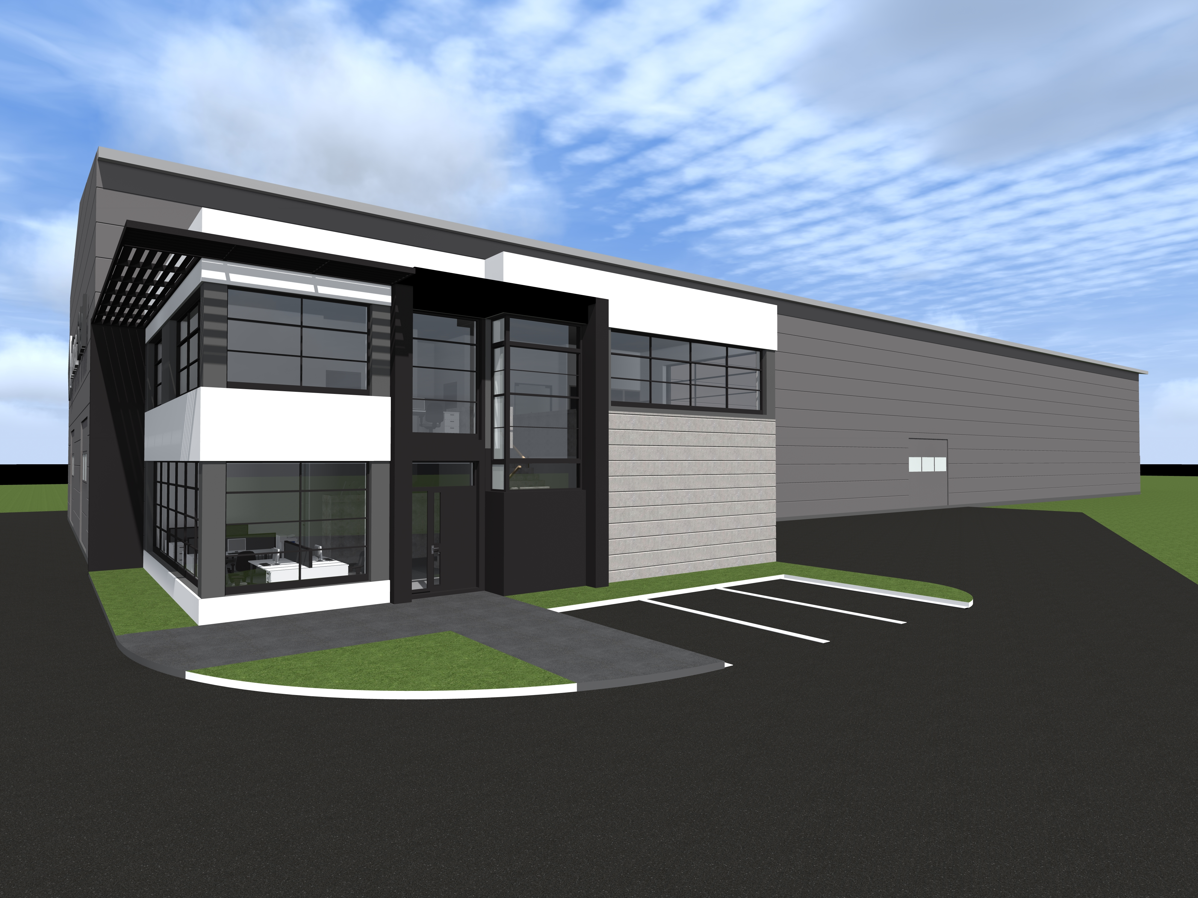 DESIGN OF PRODUCTION AND WAREHOUSE HALL WITH AN OFFICE AND SOCIAL BACKUP FOR KONA – STAL RAFAŁ JANIK IN PŁOCK AT KUTNOWSKA STREET